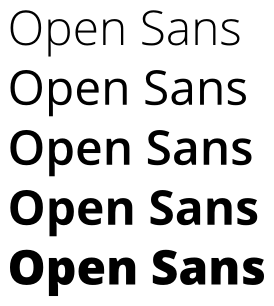 open-sans-weights